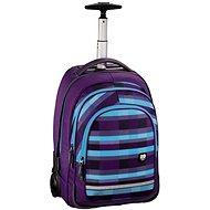 Trolley All Out Summer Check Purple - Školský batoh