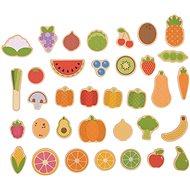 Bigjigs Toys Magnetky Ovocie a zelenina - Dekorácia do detskej izby