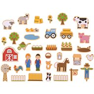 Bigjigs Toys Magnetky Farma - Dekorácia do detskej izby