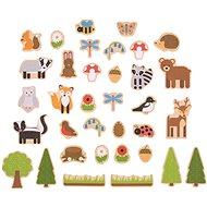 Bigjigs Toys Magnetky Lesné zvieratká - Dekorácia do detskej izby