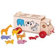 Bigjigs Toys - Auto so zvieratkami