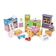Le Toy Van Kompletná súprava nábytku do domčeka - Nábytok pre bábiky