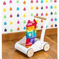 Le Toy Van Petilou Vozík s dúhovými kockami - Drevená hračka