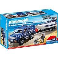 Playmobil 5187 Policajné auto s rýchlostným člnom - Stavebnica