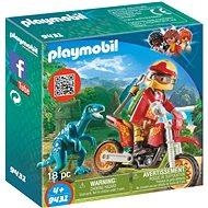 Playmobil 9431 Motorka s velociraptorom - Stavebnica