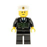 LEGO City Policeman – hodiny s budíkom - Hodiny do detskej izby