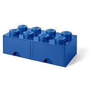 Úložný box LEGO Úložný box 8 so zásuvkami – modrý