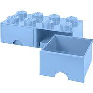 Úložný box LEGO Úložný box 8 so zásuvkami – svetlo modrá