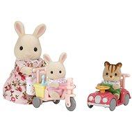 Sylvanian Families Mama biely králik s hrajúcimi sa mláďatami - Figúrky