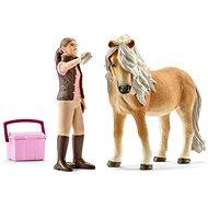 Schleich 41431 Kobyla koňa Islandského s ošetrovateľkou - Súprava figúrok