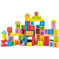 Woody Pastelové kocky s písmenami a číslicami