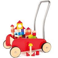 Woody Kovový vozík s kockami - Stavebnica