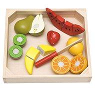 Didaktická hračka Woody Krájanie na doske – ovocie s melónom