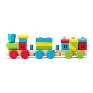 Woody Drevený skladací nákladný vlak - dva vagóny