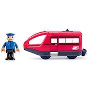 Woody Moderný elektrický vláčik – červený - Príslušenstvo k vláčikodráhe