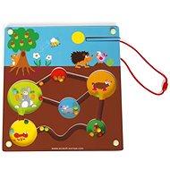 Scratch Magnetické bludisko Záhradka - Kreatívna hračka