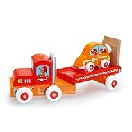 Scratch Nákladniak so závodným autom - Drevený model