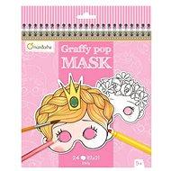 Avenue Mandarine Karnevalové masky na vymaľovanie pre dievčatá - Kreatívna hračka