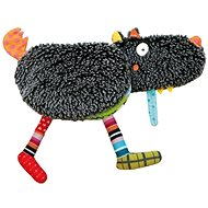 Ebulobo Veľká látková knižka Hladný vlk - Textilná hračka