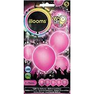 LED balóny - ružové 4 ks - Herný set