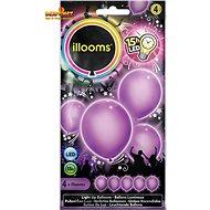 LED balóny - fialové 4 ks