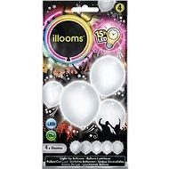 LED balóny - biele 4 ks - Herný set