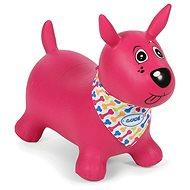Ludi Skákací pes ružový - Detské skákadlo