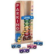 Melissa & Doug - Stohovacia parkovacia garáž - Drevená hračka