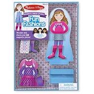 Drevená hračka Melissa & Doug - magnetické obliekanie - Bábika - Dřevěná hračka