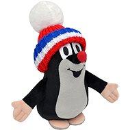 Krtko s čiapkou trikolor 20 cm - Plyšová hračka