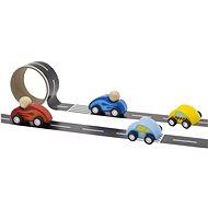 Cesty s drevenými autíčkami - Drevená hračka