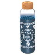 Fľaša na vodu Sklenená fľaša s návlekom 585 ml, Hra o tróny