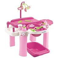 Ecoiffier Nursery veľké prebaľovacie centrum so stoličkou a vaničkou pre bábiky - Doplnok pre bábiky