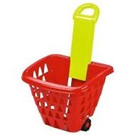 Ecoiffier Nákupný košík na kolieskach skladací