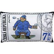 Vankúš 43 × 25 cm, Švejk, známka - Vankúš