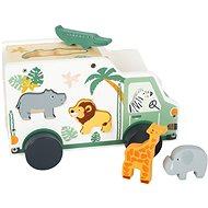 Drevená hračka Small Foot Vkladacie auto Safari - Dřevěná hračka