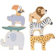 Drevená hračka Small Foot - Skladacie zvieratká Safari