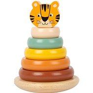 Small Foot Nasadzovacia veža Tiger Safari - Drevená hračka