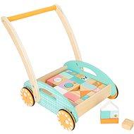 Drevená hračka Small Foot - Vozík s kockami - Dřevěná hračka