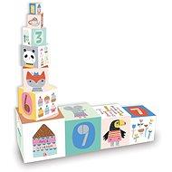 Drevená hračka Vilac - Skladacia veža z kociek Suzy Ultman