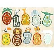 Small Foot Vkladacie puzzle čísla Safari