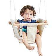 Dvedeti Detská textilná hojdačka 100 % bavlna béžová - Hojdačka