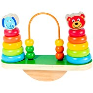 Drevená balančná pyramída s korálkami - Drevená hračka