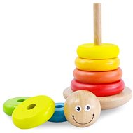 Drevená farebná pyramída - Drevená hračka