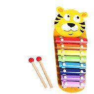 Drevený xylofón s paličkami - Drevená hračka