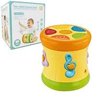 Hudobná hračka Obojstranný hrací bubon žltý