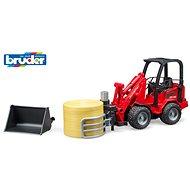 Bruder Farmer – kompaktný nakladač s kliešťami na balíky - Auto