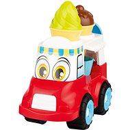 Androni Veselé zmrzlinárske auto – 24 cm, červené