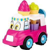 Androni Veselé zmrzlinárske auto – 24 cm, ružové