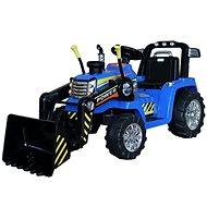 Traktor MASTER s naberačom, modrý, pohon zadných kolies